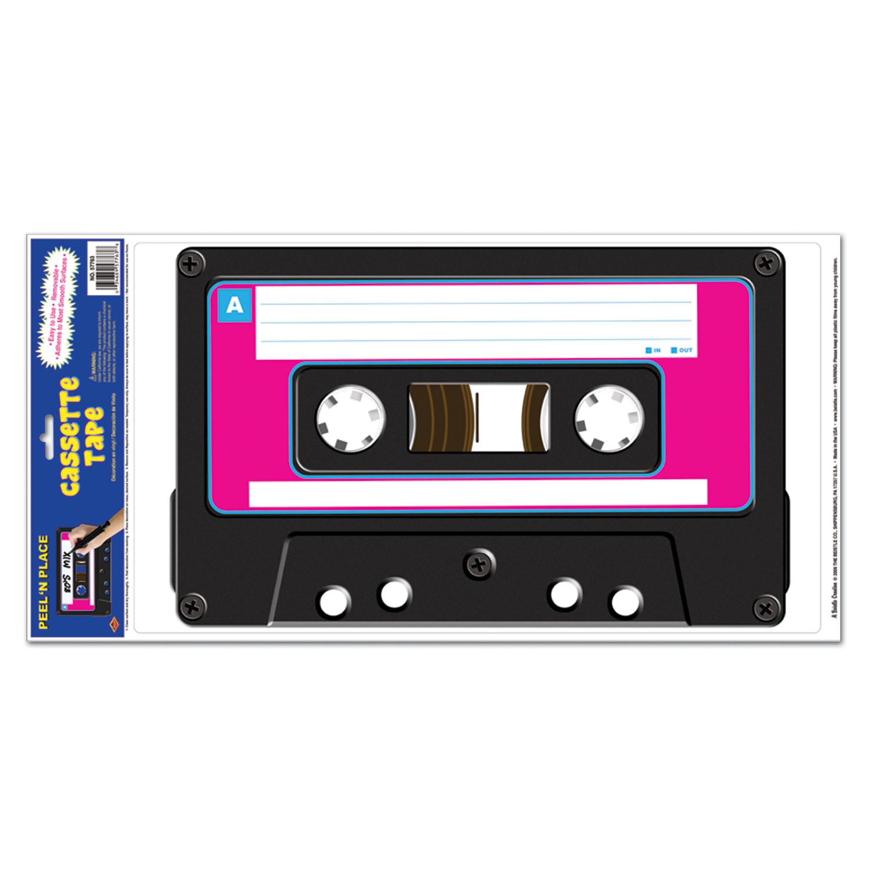 stickers cassette geante soir e deux ou entre amis dans une ambiance et une d co original. Black Bedroom Furniture Sets. Home Design Ideas
