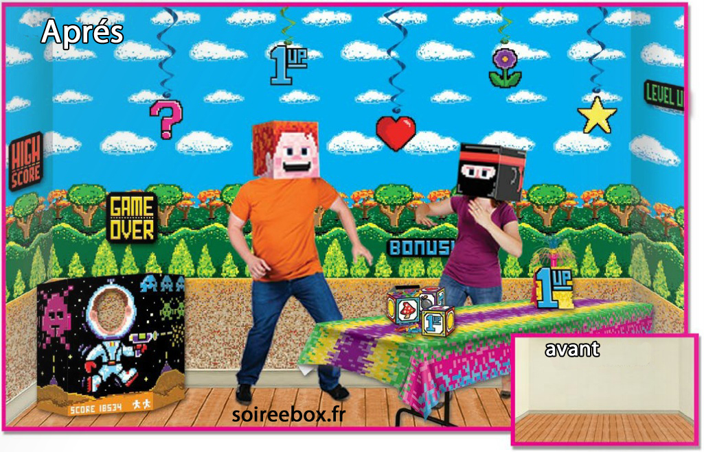 Deco annees 80 geek jeux vid os pas cher for Decoration annee 90