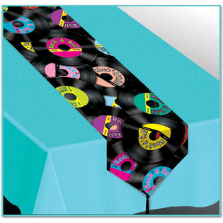Nappe turquoise chemin de table annees 50 soir e for Decoration murale annee 60