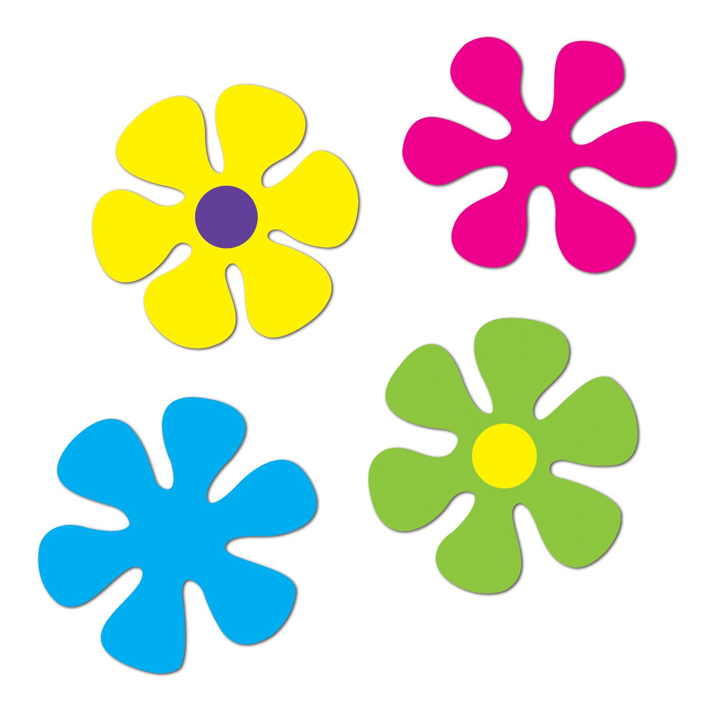 Ensemble De 4 Fleurs De Couleurs Cartonnees Soiree A Deux Ou Entre