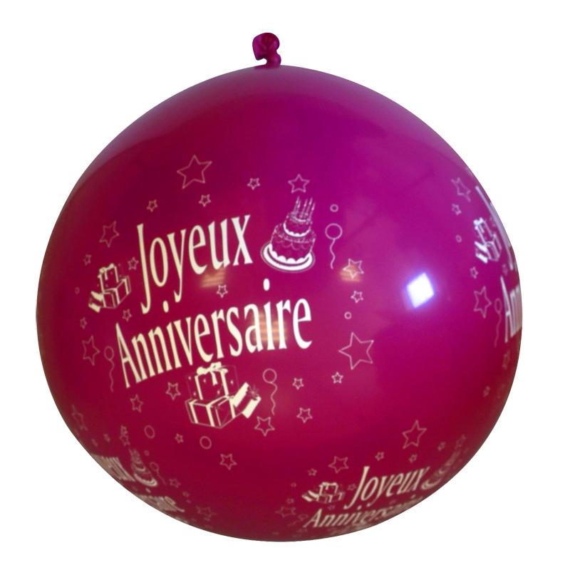 Ballon Joyeux Anniversaire Rose Fuschia Soiree A Deux Ou Entre