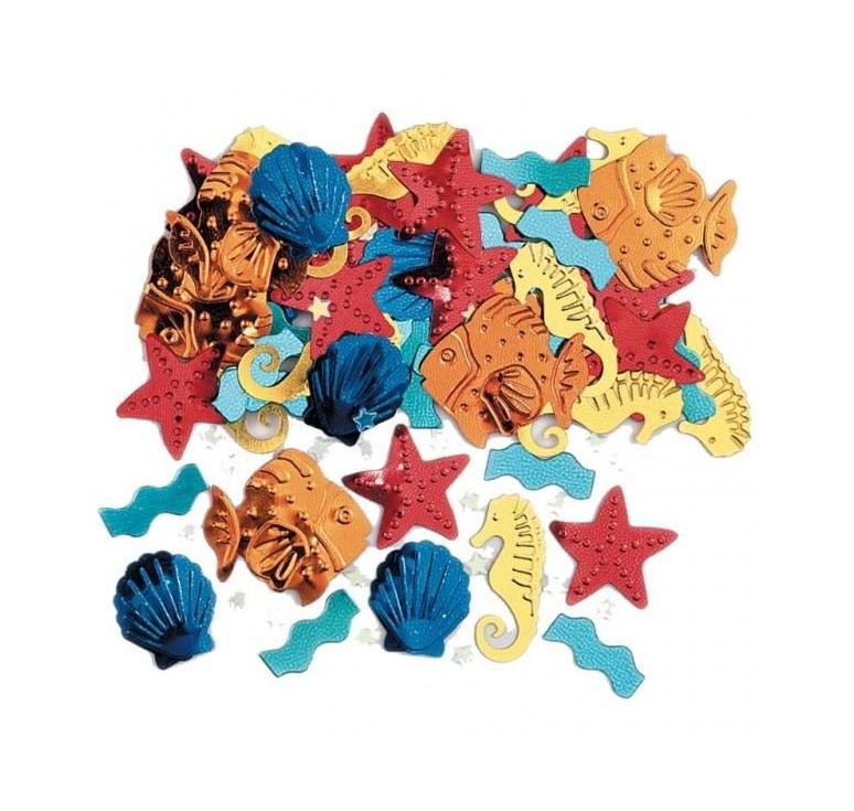 Confettis De Table Coquillage Et Crustace Soirée à Deux Ou Entre