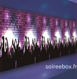 decor mural disco annees 80. Black Bedroom Furniture Sets. Home Design Ideas
