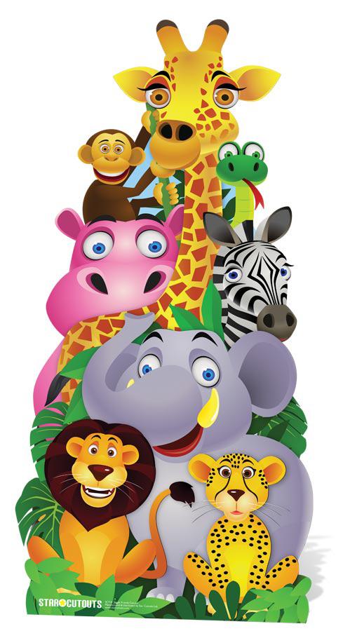 Image Animaux De La Jungle figurine geante animaux de la jungle : soirée à deux ou entre amis