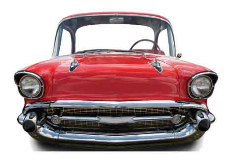 figurine geante voiture rouge annees 50 soir e deux ou entre amis dans une ambiance et une. Black Bedroom Furniture Sets. Home Design Ideas