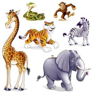 Lot de 6 animaux de la jungle soir e deux ou entre - Animaux de la jungle maternelle ...
