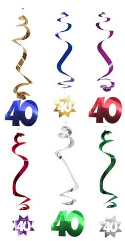 Lot De 6 Suspensions Anniversaire 40 Ans Soiree A Deux Ou Entre