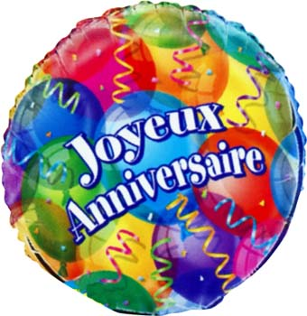 Ballon Metal Helium Joyeux Anniversaire