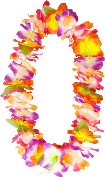Collier Hawai Fleurs Polyester Soiree A Deux Ou Entre Amis Dans