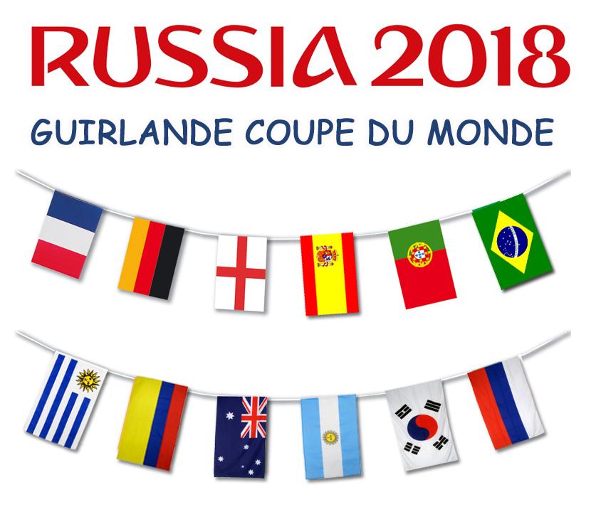 Guirlande des pays de la coupe du monde 2018 foot - Coupe du monde 2018 pays organisateur ...