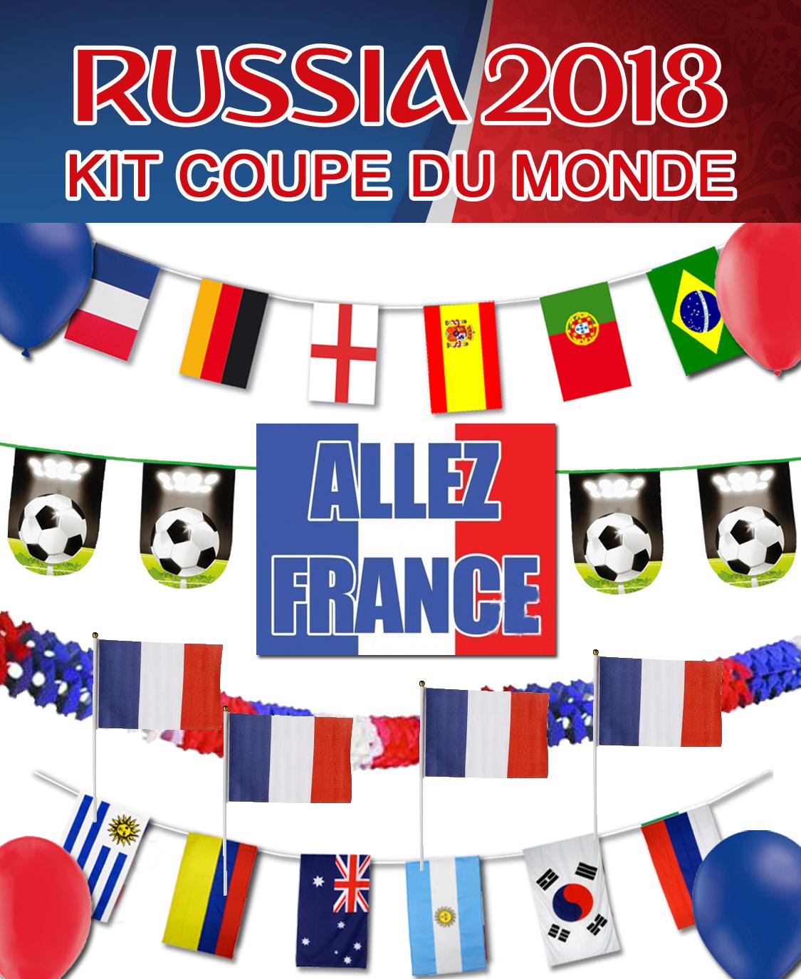 Kit de d coration de la coupe du monde de football - Jeux de foot de la coupe du monde ...